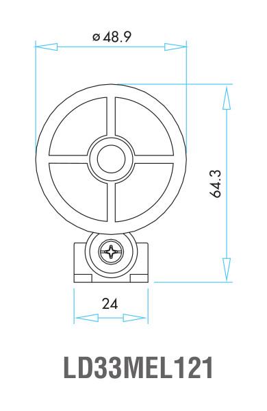 EMAS – Габаритные размеры ролика концевого выключателя L52K13MEL121