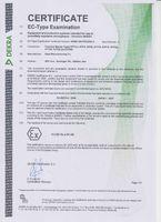 сертификат EC -TYPE испытаний на RTP серии