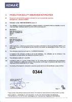 Уведомление Обеспечение качества производства для RTP серии (Уполномоченный КЕМА)