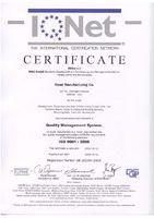 ISO 9001: 2008 Сертификат (IQ Net) (Сертифицирован DQS)