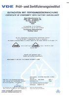 Сертификат на RTP4 (Сертифицирован VDE)