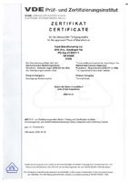 Сертификат на утвержденное место производства (Сертифицирован VDE)